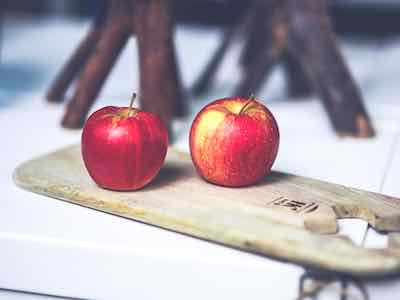Müsli selber machen Äpfel